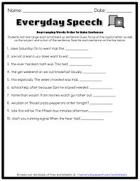 rearranging words order to make sentences everyday speech