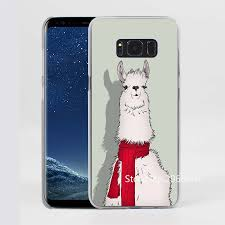 Galaxy Phone Meme - cute llama goat meme alpaca design transparent phone shell case for