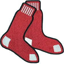 Boston Red Sox Home Decor by Boston Red Sox Hanging Socks With Blue Border Sleeve