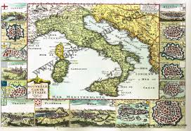 Maps Italy by Nouvelle Carte D U0027italie Reproduction Antique Maps And Charts