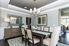 Brown Dining Blue Room Blue Dining Room Ideas Candleholders Animal Painting Chandelier