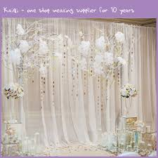 wedding backdrops ivory wedding voile backdrop wall covering draping kaiqi wedding
