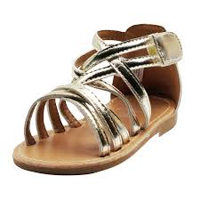 stepping stones little girls gladiator gold sandals girls strappy