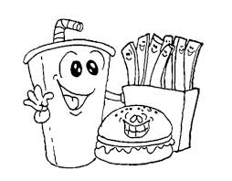 fast food coloring pages coloring pages kids
