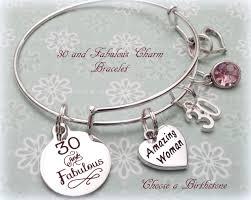 birthday charm bracelet 30th birthday gift 30 and fabulous charm bracelet birthday gift