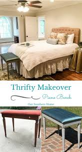 Southern Home Decor Thrift Store Piano Bench Makeover Our Southern Home