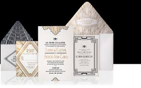 art deco wedding invitations dhavalthakur com