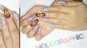 how to diy holographic nails at home cheap u0026 easy youtube