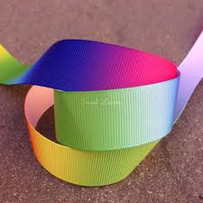 printed grosgrain ribbon rainbow printed grosgrain ribbon