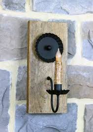 Barn Wall Sconce Reclaimed Barn Wood Lighting Barn Wood Electric Wall Sconce