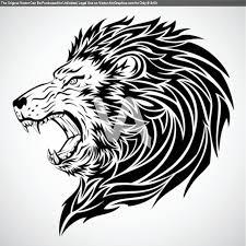 tattoo design lion vector graphics of lion roar tribal tattoo tattoomagz