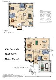 Sorrento Floor Plan Mk5 Split Level Metrofacade 35 Square Version Home Design