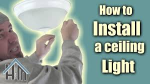 How To Install A Flush Mount Ceiling Light How To Install Ceiling Light Flush Mount Light Fixture Easy