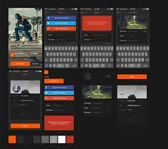 free template for website with login page free flat gui templates 25 best free flat style ui design kits login ui kit for iphone