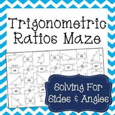 trigonometric ratios sine cosine u0026 tangent maze trigonometry