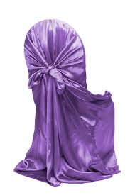 purple chair covers universal satin self tie chair cover purple at cv linens cv linens
