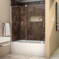 Frameless Shower Doors For Bathtubs Dreamline Mirage X 56 60 In Width Frameless Sliding Tub Door 3