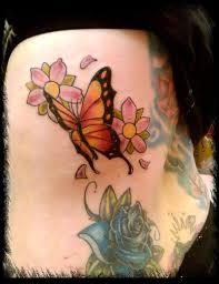 butterfly flower tattoo design ideas on side tattoo ideas trend