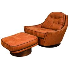 Chair And Ottoman Sale Swivel Club Chair And Ottoman For Sale At 1stdibs