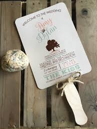 Sample Of Wedding Programs Ceremony Rustic Wedding Program Fan Digital Outdoor Ceremony Tree