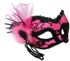 black lace mask pink eye mask with black lace costume accessories mega fancy dress