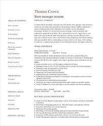 Boutique Manager Resume Retail Manager Resume Templates Resume Examples For Retail Store
