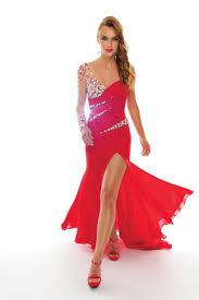 fashion trends one shoulder ruffle sweetheart asymmetrical prom