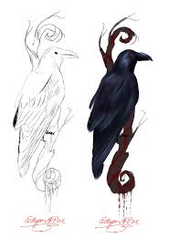raven tattoo design by kindercollective on deviantart