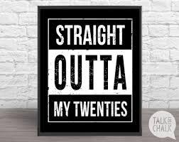 30th birthday decorations outta my twenties digital sign printable 30th birthday