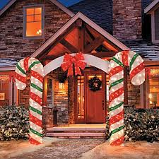 large bow arch clear lights stake yard