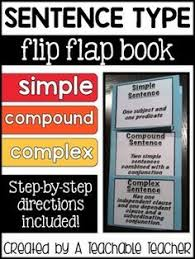 simple compound and complex sentence sort this cute activity
