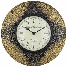 vintage wooden wall antique gold vintage wooden wall clocks rs 550 craftel