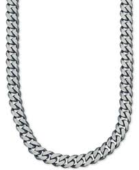 chain necklace mens images Esquire men 39 s jewelry wide chain necklace 6 3 4mm in sterling tif