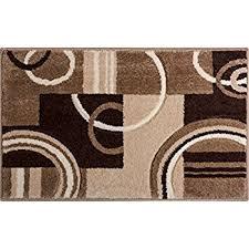 amazon com modern rug door mat 2 ft x 3 ft brown design 125