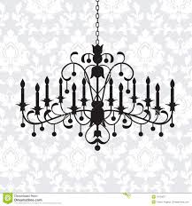 Black Chandelier Clip Art Vintage Chandelier Royalty Free Stock Photography Image 16123877