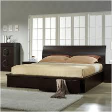 no headboard bed frame bedroom platform bed with upholstered headboard platform bed no