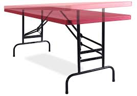 foldable table adjustable height adjustable blow molded folding table