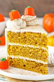 pumpkin layer cake with cheese frosting