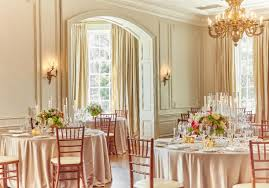 the great hall features french grey walls silk drapes sunny bay