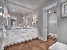 seaside shingle coastal home bathroom paint color is stonington
