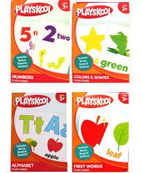 amazon com playskool early learning flash cards prek k 4 pack