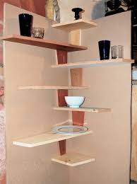 spacesaver small kitchen spaces using diy wood floating corner