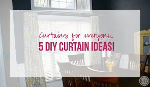 Covering A Wall With Curtains Ideas Curtains For Everyone 5 Diy Curtain Ideas Happily After