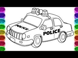 police car drawing coloring police car colouring book