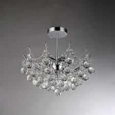 Crystal Flush Mount Lighting Shop Warehouse Of Tiffany 18 In W Chrome Crystal Semi Flush Mount