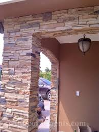 Faux Stone Post Sleeves by Faux Stone Siding