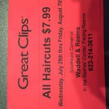 are haircuts still 7 99 at great clips great clips 11 reviews hair salons 15411 w waddell rd