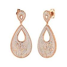 Rose Gold Chandelier Earrings Rose Gold Earrings For Women Diamondere