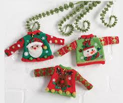 raz imports sweater ornaments set of 3 reindeer