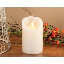 luminara 7 in pillar ivory indoor vanilla scented candle lm357b